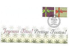 FDC P1798 N°4467/68  Joyeuses Fêtes / FEESTEN / - Cartas