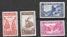 Turkey Mh * 1939 Complete Train Set (30 Euros) - Ungebraucht