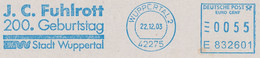 Freistempel Kleiner Ausschnitt 027 Wuppertal, Schwebebahn J C Fuhlrott - Machine Stamps (ATM)