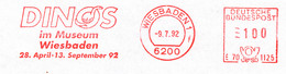 Freistempel Kleiner Ausschnitt 036 Wiesbaden Dino Museum - Machine Stamps (ATM)