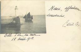 CPA TRANSPORTS BATEAUX CARTE PHOTO BELLE ILE EN MER 1903 VOIR IMAGES - Autres