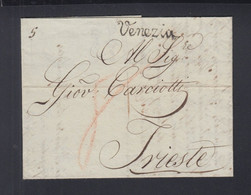 Italien Italia Brief 1818 Venezia Nach Trieste - 1. ...-1850 Vorphilatelie