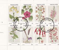 NAGALAND (north India) - 1972 - Flowers - Sheet Of 8 Cinderellas - Fleurs - Feuilles De 8 Vignettes - Sonstige
