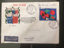 Enveloppe Par 1er Vol Reunion- Mayotte,rare Code Postal - Oceania (Other)