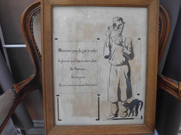 ENGHIEN. Caricature De Georges Bascour Pâtissier Confiseur - Collections