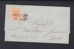 Österreich Italien Italia Faltbrief 1857 Rovigo S.M Maddalena Nach Gaiba - Briefe U. Dokumente