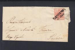 Österreich Italien Italia Faltbrief 1853 Bassano Nach Padova - Briefe U. Dokumente