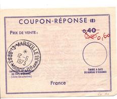 Coupon-réponse France 0,40 Corrigé Au Bic - Modèle Ex 10 - Reply Coupon - IRC CRI IAS - Marseille 1973 - Coupons-réponse
