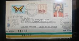 A) 1971, BRAZIL, FROM PORTO ALEGRE TO TEXAS UNITED STATES, AIRMAIL, CANCELATION GUICHET PHILATELIC, XF, BREEDING DAY STA - Cartas