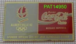 COCA JO ALBERTVILLE 92 1992 En Version EPOXY COJO 1991 - Coca-Cola