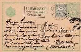 Hungary - Stationery - Romania - Craiova - Censure - Censuriert Tovabbithato - Briefe U. Dokumente