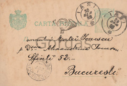 Romania - Iasi - Bucuresti - Stationery - 1899 - Stampila Goarna 151 - Briefe U. Dokumente