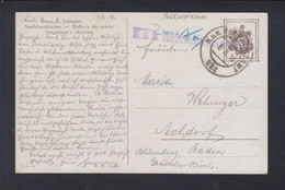 KuK Feldpost Rayonskommando 611 1918 Gelaufen - Briefe U. Dokumente