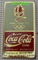 COCA JO ALBERTVILLE 92 1992 PARTENAIRE OFFICIEL En Version EPOXY  COJO 1988 - Coca-Cola