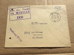 K16 DDR 1965 ZKD-Brief Von Wismar Nach Bad Kleinen - Cartas