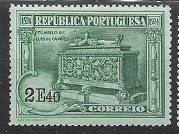 Portugal Mh * 1924 (10 Euros) - Unused Stamps