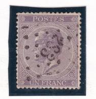 Belgique - COB 21A Obl. Losange à Points 283 Ostende - 1865-1866 Profiel Links