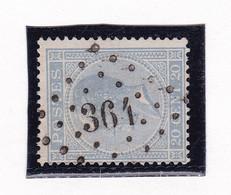 Belgique - COB 18 Obl. Losange à Points 364 Tronchiennes - 1865-1866 Profiel Links