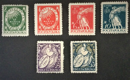 1921 Verfassung(*) Mi. 164-170 (o.165) - Unused Stamps
