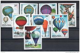 Rwanda. Montgolfieres. Série Complete Non Dentelée ** - 1980-89: Neufs