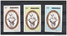Rwanda.10eme Anniversaire. Série Complete Non Dentelée ** - 1980-89: Neufs