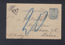 Frankreich France Kartenbrief 1889 - Briefe U. Dokumente