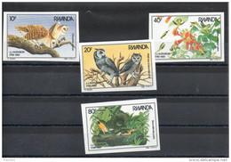 Rwanda.oiseaux. Audubon . Série Complete Non Dentelée ** - 1980-89: Neufs