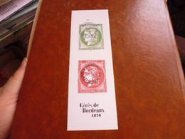 OBLITERATION TAD  SUR TIMBRE NEUF CERES DE BORDEAUX - Used Stamps