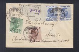 Rumänien Romania R-Brief 1936 Craiova Nach Linz Donau - Briefe U. Dokumente