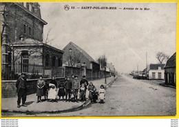 SAINT-POL SUR-MER - Avenue De La Mer - Animée - Otros Municipios