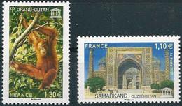 France  2017.  UNESCO World Heritage Site. Fauna. Monkey. Orangutan. Architecture. Samarkand.  MNH - Unused Stamps
