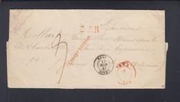 Belgien Faltbrief 1847 Apres Le Depart - 1830-1849 (Unabhängiges Belgien)