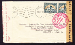 1941 Mehrfach Zensurierter Brief Aus Johannesburg Nach Sumatra. - Briefe U. Dokumente