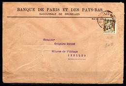337 Met Firmaperforatie/perfin BB (Banque De Bruxelles) Op Briefstuk Gestempeld BRUXELLES - BRUSSEL - 1932 Cérès Et Mercure