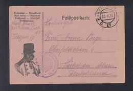 KuK Feldpost 17 1915 Nach Deutschland - Cartas