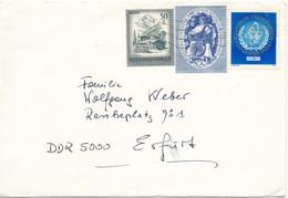 Österreich Kirchberg TGST Mi. 1548 IAEA Atom + Mi. 1496 Symphoniker Wien + Mi. 1475 Zillertal - Brief Nach DDDR - 1971-80 Cartas