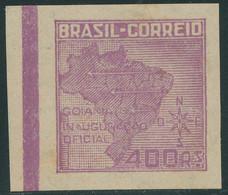 BRASILIEN 1942 Gründung Der Stadt Goiânia Goiás 400R Violett Landkarte **  ABART - Neufs