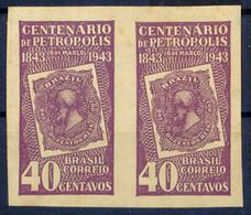 BRASILIEN 1943 100-Jahr-Feier Der Stadt Petropolis 40C Violett ABARTEN UNGEZÄHNT - Neufs