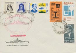 BRASILIEN / BRD 1968 Schiffspost-Bf. Schulschiff Deutschland, Salvadore De Bahia - Cartas