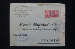 BRÉSIL - Enveloppe Commerciale De Rio De Janeiro Pour Paris Avec Contrôle Postal Militaire Français 367 - L 89505 - Lettres & Documents