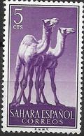 SPANISH SAHARA 1957 Animals - 5c - Dromedaries MH - Sahara Español