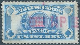 Stati Uniti D'america,United States,U.S.A,Inter.Revenue Stamps PLAYING CARDS,1pack,Used - Fiscaux