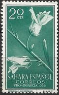 SPANISH SAHARA 1956 Child Welfare Fund - 20c - Antirrhinum Ramosissimum MH - Sahara Español