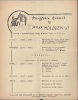 Récital Piano Par Ilya Holodenko Mars 1942 Guerre 39 45 Internés Civils Grande Caserne Saint St Denis Paris Stalag 122 - Scores & Partitions