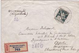Czechoslovakia - Y&T 175 On Registered Letter From Mariánské Lázně To Oppeln (Opole, Poland) - Haute-Silésie / Silesia - Cartas