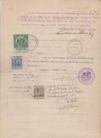 DOCUMENTO CERTIFICATO DI NASCITA .1926  . CON 2 MARCHE CONSOLARI +2  MARCHE DEL  CILE. - Documenti Storici