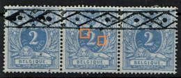 27  Bande 3  Obl Roulette  Avec Points Bleus Dans Cartouches - 1869-1888 Lying Lion