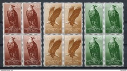 Sahara 1957. Edifil 139-41 X 4 ** MNH. - Sahara Español