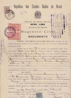DOCUMENTO CONSOLATO IN BRASILE . 1927 . CON MARCA CONSOLARE - Historical Documents