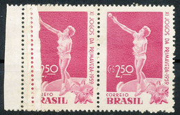 BRAZIL 1959 11th Spring Sports Games 2.50 Cr. Ball Butt U/M (2) MAJOR VARIETY - Nuevos